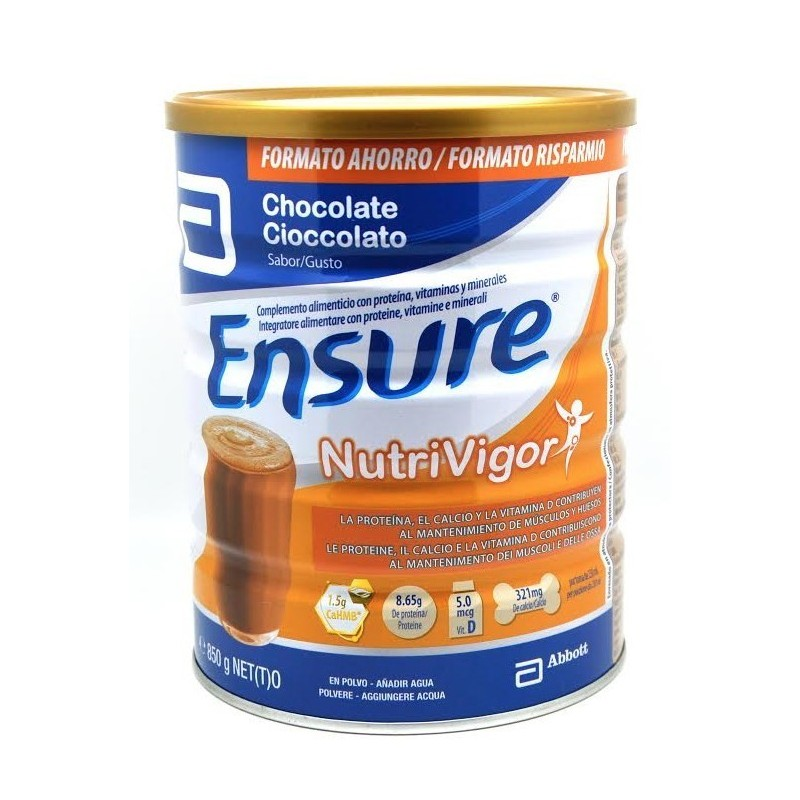 ENSURE NUTRIVIGOR CHOCOLATE 850GR