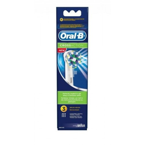 ORALB RECAMBIO CEPILLO CROSS ACTION 3UD+1UD