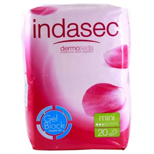 INDASEC COMPRESAS MINI 80 ML 20 UN