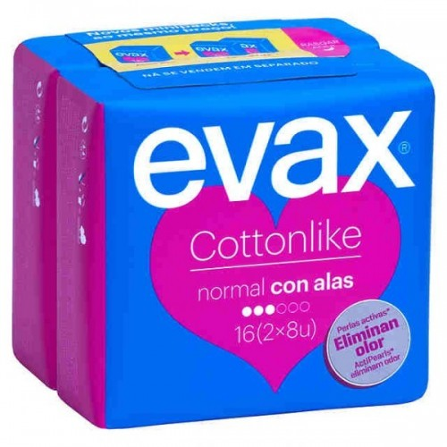EVAX COMPRESAS COTTONLIKE ALAS 16UNIDADES