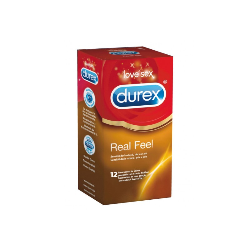 DUREX PRESERVATIVO REAL FEEL 12U