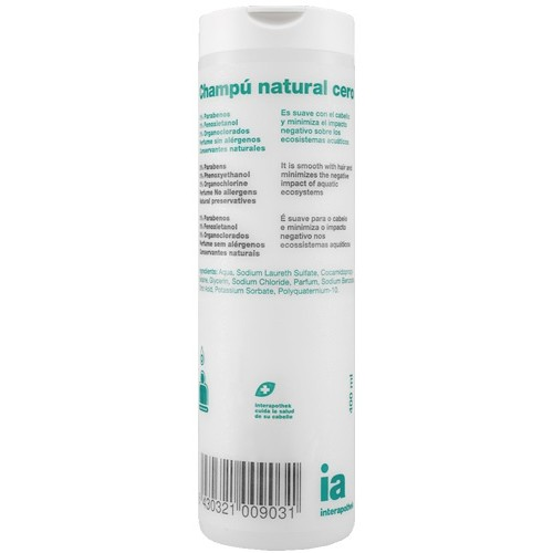 INTERAPOTHEK CHAMPU NATURAL CERO 400 ML