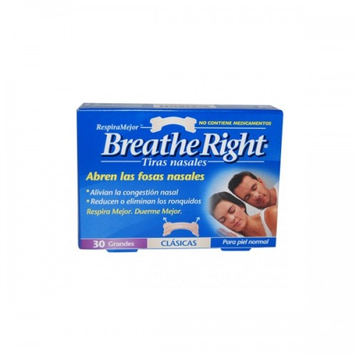 RHINOMER TIRA NASAL BREATHE RIGHT 30GD