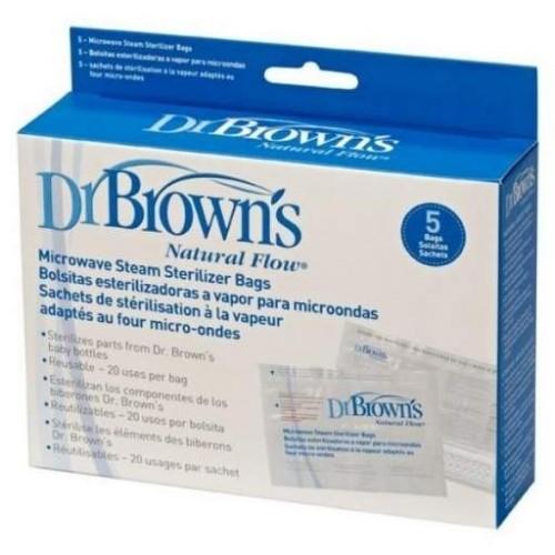 DR BROWNS BOLSA ESTERILIZACION VAPOR MICROONDAS
