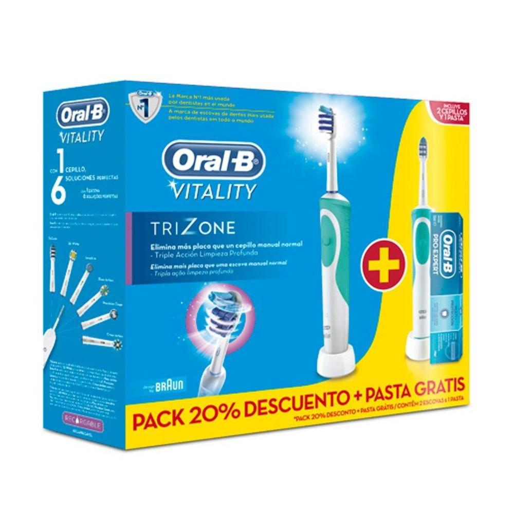 cepillo electrico oral b duo vitality precision farmacia de casa. Black Bedroom Furniture Sets. Home Design Ideas