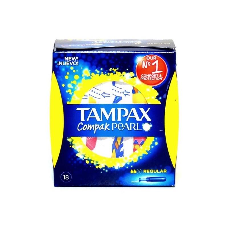 TAMPAX COMPACK PEARL REGULAR18