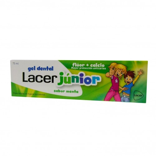 LACER JUNIOR GEL DENTAL 75 ML MENTA+REGALO