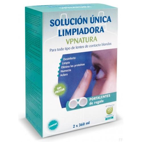 VPNATURA SOL. UNICA LIMPIADORA LENTILLAS 2X360
