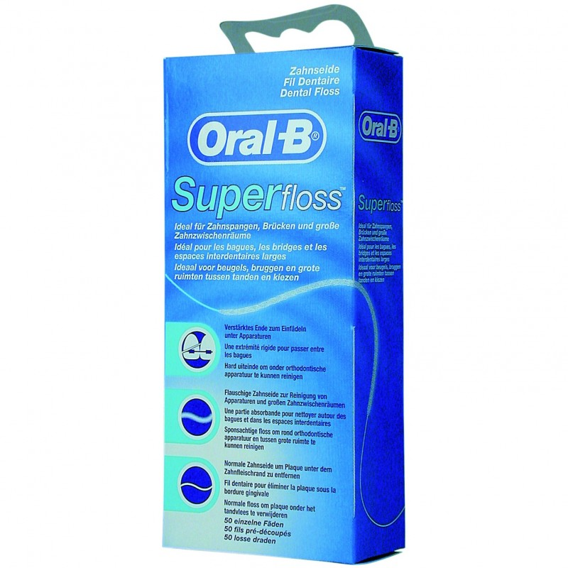 ORAL B HILO DENTAL SUPER FLOSS 50U
