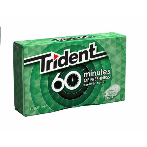 TRIDENT CHICLES 60 MINUTES HIERBABUENA