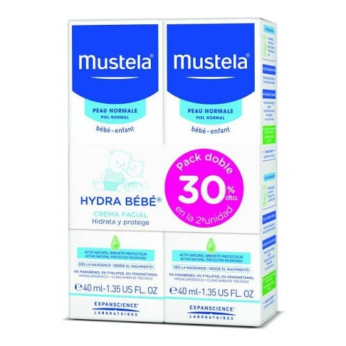 MUSTELA PACK DOBLE HYDRABEBE CARA  30% DTO