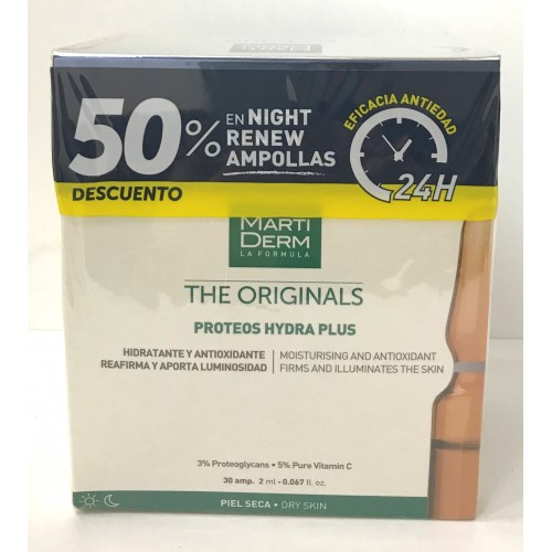 MARTIDERM PROTEOS VERDES PACK PROMO 30+10 NIGHT
