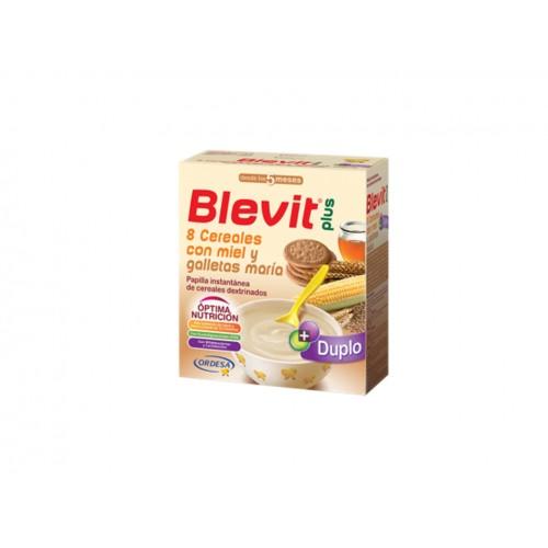BLEVIT PLUS DUPLO 8 CEREALES MIEL GALLETAS 600G