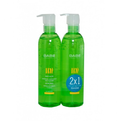 BABE ALOE GEL  300 ML DUPLO 2X1