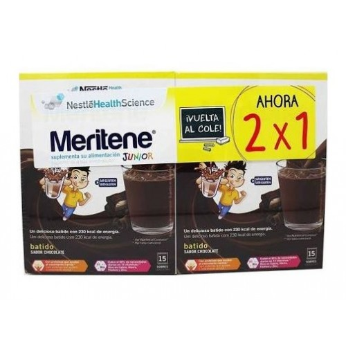 MERITENE JUNIOR CHOCOLATE DUPLO 15 SOBRES