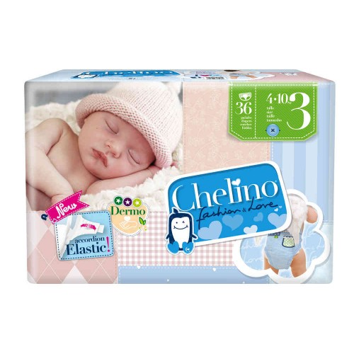 CHELINO FASHION LOVE PAÑALES T3 DE 4/10KG