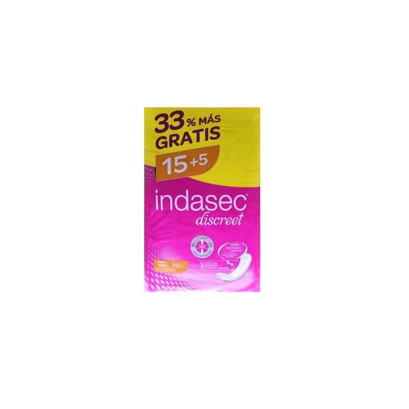 INDASEC DISCREET MAXI 15 UND.+ 5 GRATIS