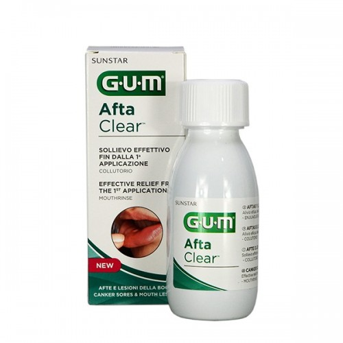 GUM AFTACLEAR COLUTORIO 120 ML CON HIALURONICO