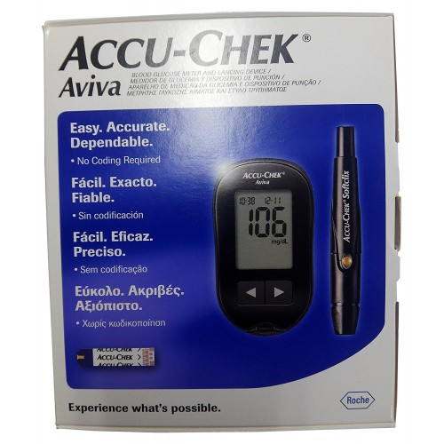 ACCU-CHEK AVIVA GLUCOMETRO MEDIDOR + PINCHADOR