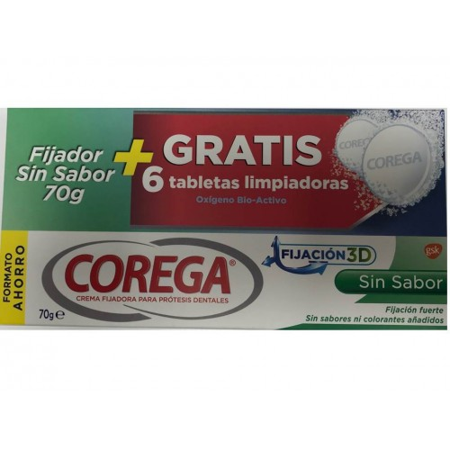 COREGA EXTRA  FUERTE SIN SABOR 70 ML+6TAB GRATIS