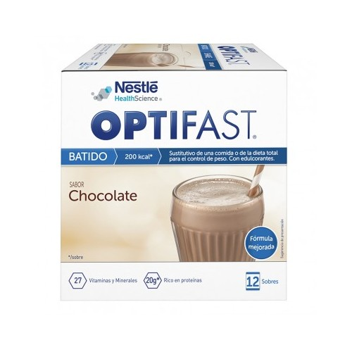 OPTIFAST BATIDO SABOR CHOCOLATE 12 SOBRES