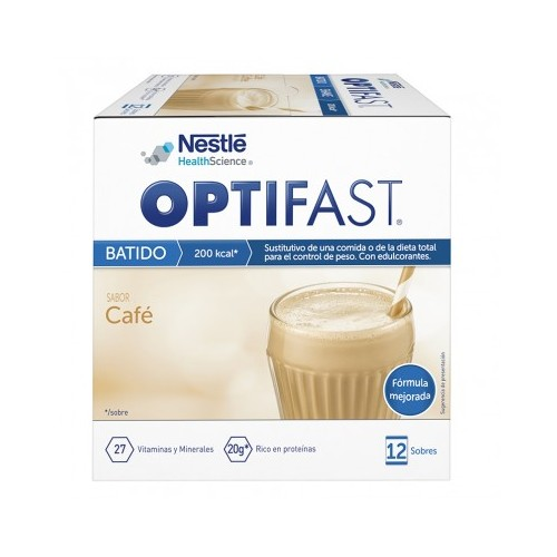OPTIFAST BATIDO SABOR CAFE, 12 SOBRES