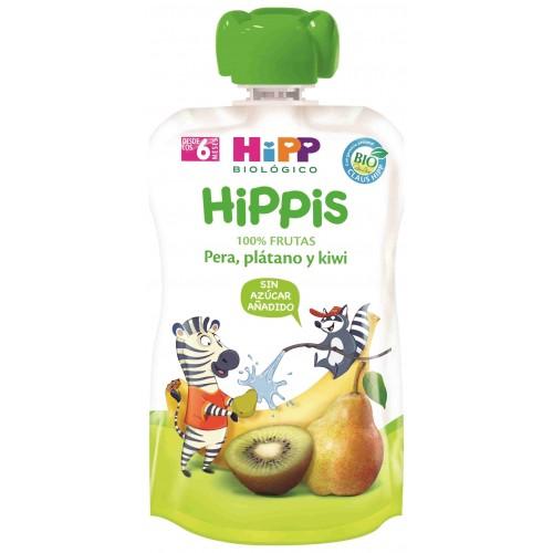 HIPP BIOLOGICO BOLSITA KIWI PERA Y PLATANO 100GR