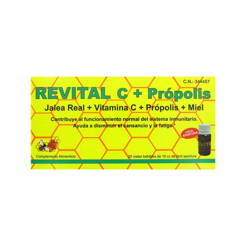 REVITAL JAL REAL +PROPOLIS+VIT C+ MIEL 20AMPOLLA