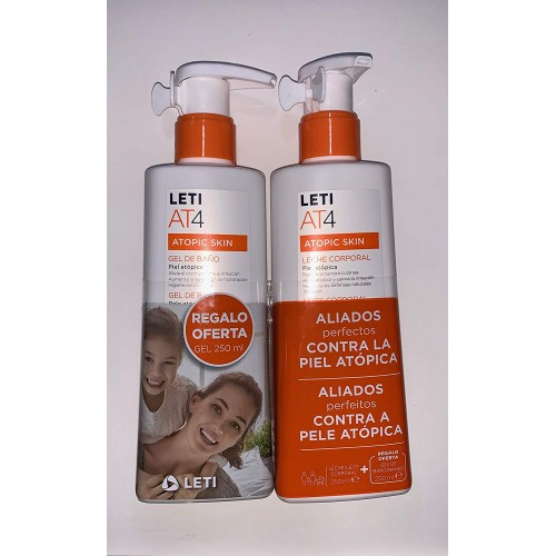 LETI AT-4 LECHE CORPORAL 250ML+GEL REGALO 250ML