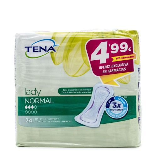 TENA LADY COMPRESA NORMAL 24UNIDADES