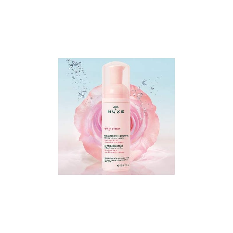 NUXE VERY ROSE MOUSSE SUAVE LIMPIADORA 150ML