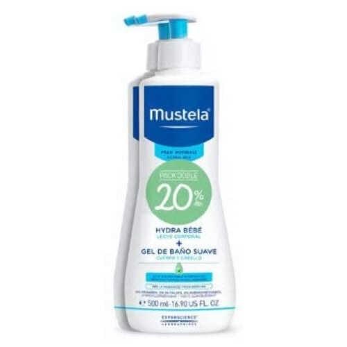 MUSTELA HYDRA BEBE 500ML+GEL BAÑO 50ML 20%DTO