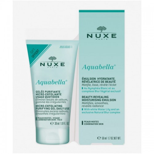 NUXE AQUABELLA PACK GEL EXFOLIAN+LOCION+EMULSION