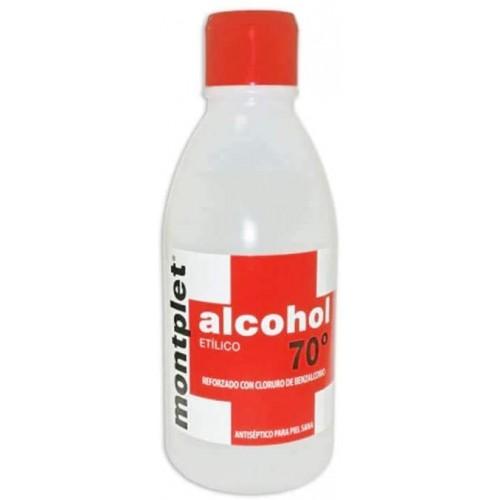 ALCOHOL 70º MONTPLET 1 FRASCO 250 ML